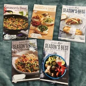 Lot of 5 pampered chef seasons best cookbooks